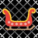 Sledge Santa Sleigh Icon