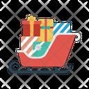 Sledge Sleigh Christmas Icon