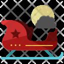 Santa Sleigh Sledge Icon