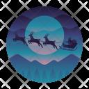 Santa Claus Sleigh Icon