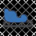 Sledge Sleigh Santa Icon