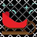 Sledge Santa Cart Icon