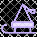 Santa Cart Transport Icon
