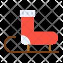Socks Sledge Santa Icon