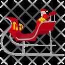 Christmas Santa Sled Icon