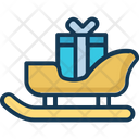 Sledge With Gift Icon