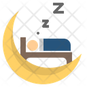 Sleep Night Bedroom Icon