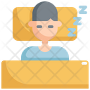 Sleep Man Activity Icon