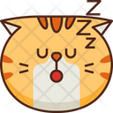 Sleep Emoticon Cat Icon