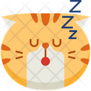 Sleep Emoticon Cat Icon