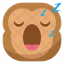 Sleep Monkey Emoji Icon