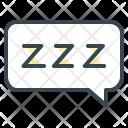 Resting Sleep Message Icon