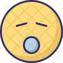 Sleep And Open Mouth Icon
