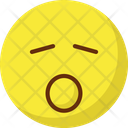 Sleep And Open Mouth Yawn Emoticons Icon