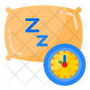 Sleep Time Time Clock Icon