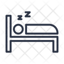Sleeping Hotel Bed Icon