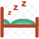 Sleeping Bedroom Hotel Icon
