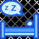 Sleeping Bed Bedroom Icon