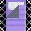Sleeping Bag Camp Icon