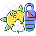 Sleeping Bag Recycle Icon