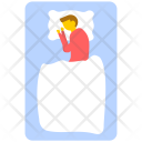 Sleeping Man Lying Icon