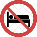 Sleeping not allowed Icon