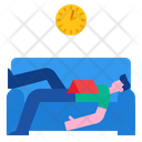 Sleeping On Sofa Icon