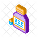 Insomnia Bottle Drug Icon
