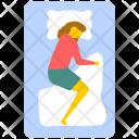 Sleeping Woman Lying Icon
