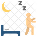 Sleepwalking Noctambulism Night Icon
