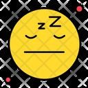 Sleepy Emoticon Face Icon