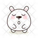 Sleepy Kawaii Cute Icon