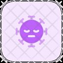 Sleepy Coronavirus Emoji Coronavirus Icon