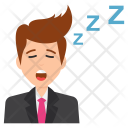 Sleepy Businessman Icon