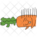 Sleepy Carrot Icon