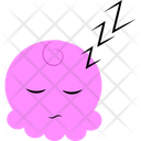Sleepy Pink Cartoon Icon
