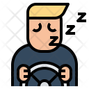 Driving Sleepy Alert Icon
