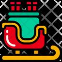 Sleigh Santa Holidays Icon