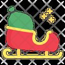 Sleigh Christmas Sledge Icon