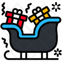 Sleigh Sled Transportation Icon