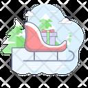 Christmas Holiday Sleigh Icon