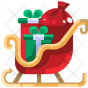 Sleigh Pulled Sleigh Pulled Santa Claus Icon