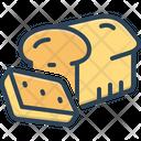 Slice Piece Bread Icon