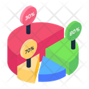 Percentage Circle Chart Pie Chart Timeline Infographic Icon