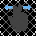 Two Fingers Horizontal Icon