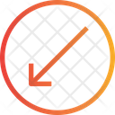 Slide Arrow Left Down Arrow Direction Icon