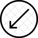 Slide-arrow-left-down Icon