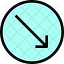 Slide Right Arrow Down Arrow Direction Icon