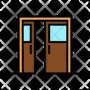 Sliding Double Door Icon