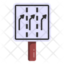 Slightly Right Turn Road Directions Road Post Icon